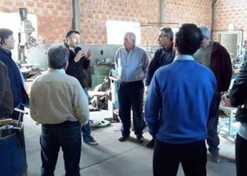 Empresarios que integran el Nucleamiento Empresarial del Noroeste bonaerense, durante el encuentro en 25 de Mayo. Foto La Verdad/InfoGEI