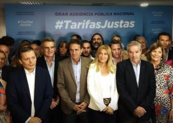 """El encuentro se realizó bajo el lema """"Tarifas justas"""" en el Teatro Astros y contó con la presencia de diferentes figuras de la política como oradores. Foto Twitter/InfoGEI"""