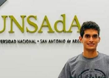 Nahuel Filippini , el pergaminense que ganó el concurso en la UNSAdA. Foto Primera Plana/InfoGEI