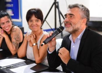 Luana Volnovich, Mercedes Marcó del Pont, Alejandro Vanoli - Foto prensa anses