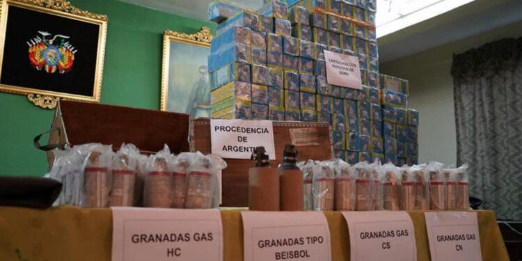 bolivia hallo mas documentacion sobre pertrechos y municiones llegados desde argentina