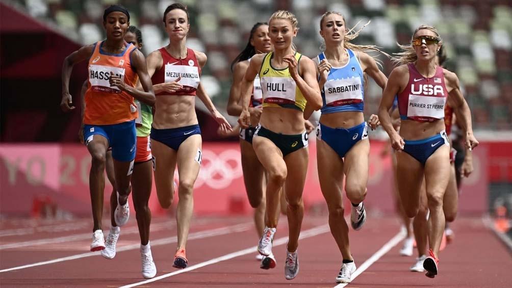 Hassan, la atleta de la jornada en 1500 metros de Tokio 2020 (Imagen TV- Claro Sport)