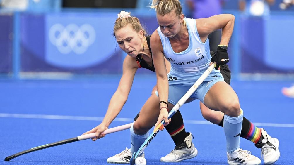 Las Leonas están derrotando a su par de Alemania. Foto: AFP