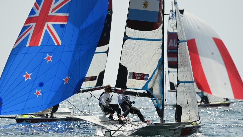 Travascio y Branz, una de las esperanzas de Argentina para la obtención de una medalla olímpica (Foto: AFP)