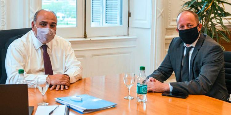 manzur recibio a insaurralde el nuevo jefe de gabinete bonaerense