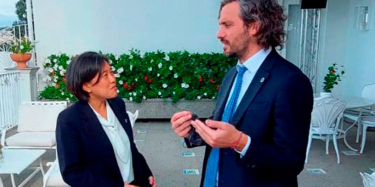 cafiero trabaja en reforzar la relacion comercial con estados unidos y espana