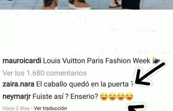 zaira nara y neymar se burlaron de mauro icardi por su look gauchesco en la semana de la moda de paris